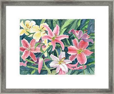 Spring Lilies Framed Print