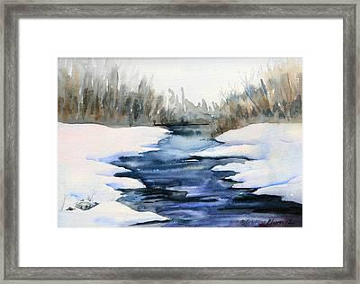 Spring Melt Framed Print by Kristine Plum