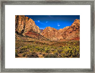 Spring Mountain Ranch In Red Rock Canyon II Framed Print by David Patterson