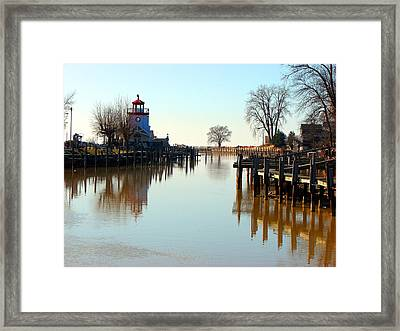 Spring On The Ausable River At Grand Bend Framed Print