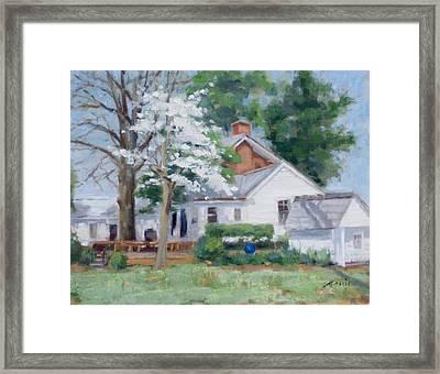 Spring On Windy Hill Framed Print by Sandra Harris