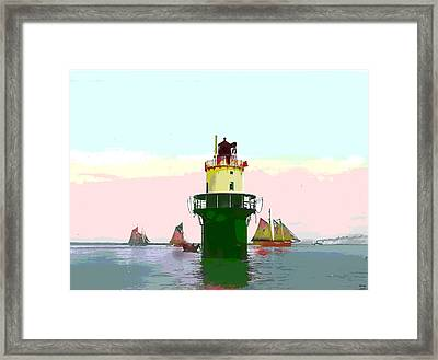 Spring Point Light Framed Print by Charles Shoup