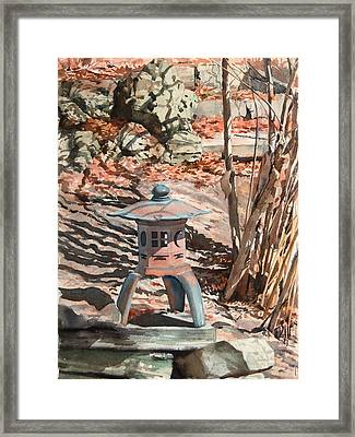Spring Shadows Framed Print by Peter Sit