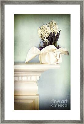 Spring Still Life With White Hyacinth Framed Print by HD Connelly
