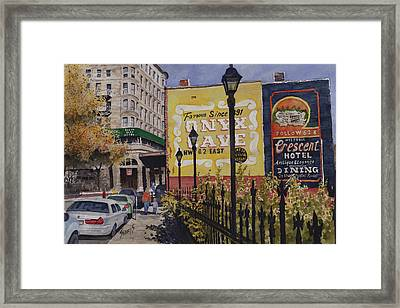 Spring Street At Basin Park Framed Print