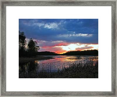 Spring Sunset Framed Print by Sandra Longstreet