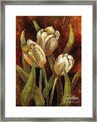 Spring Suprise Framed Print by Vic  Mastis