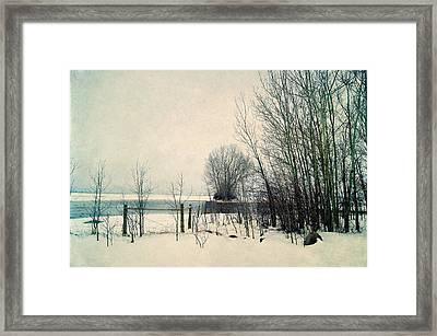 Spring Thaw Framed Print by Leanna Lomanski