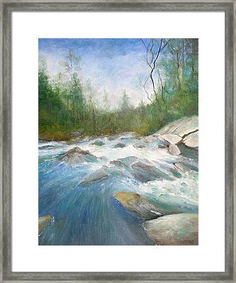 Spring Thaw Framed Print by Max Mckenzie