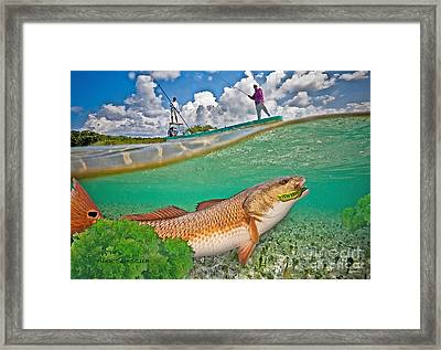 Spring Tide Red Framed Print