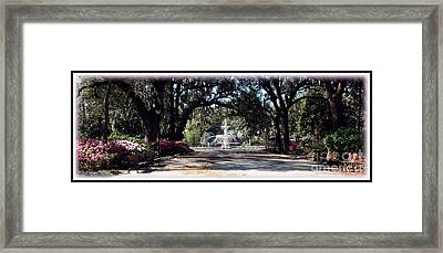 Spring Walk Through Forsyth Park Framed Print by Carol Groenen