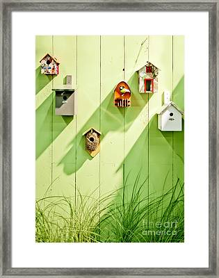 Framed Print featuring the photograph Spring Wooden Wall by Ariadna De Raadt