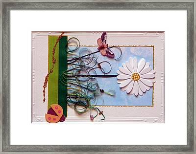 Springdaisy Framed Print by Gracies Creations