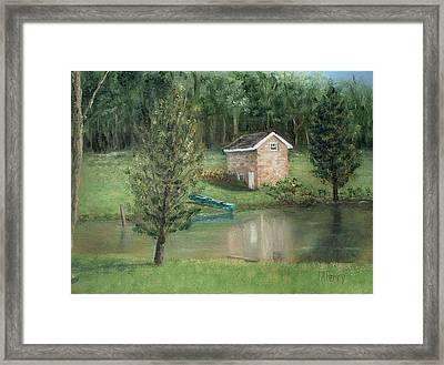 Springhouse Reflection Framed Print