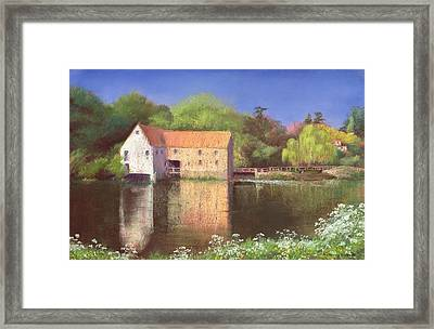 Springtime At The Mill Framed Print