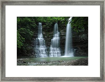 Framed Print featuring the photograph Springtime At Triple Falls by Renee Hardison