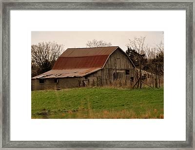 Springtime Barn Framed Print by Marty Koch