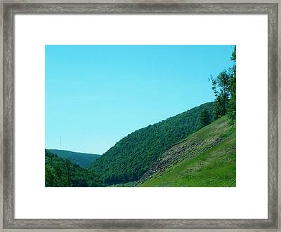 Springtime In Penna.mountains Framed Print
