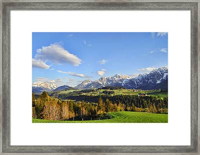 Springtime In The Mountains Framed Print by Sabine Jacobs