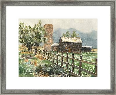 Springtime In The Rockies Framed Print by Anne Gifford
