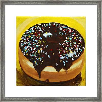 Sprinkle Donut Framed Print