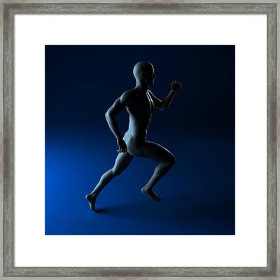 Sprinter, Artwork Framed Print by Sciepro