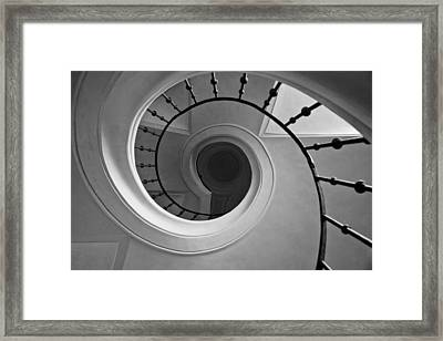 Spriral Staircase Up At Cathedral Of Our Lady In Kutna Hora Framed Print by Les Abeyta