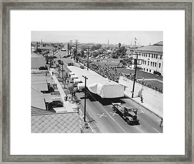 Spruce Goose Wing On The Move Framed Print