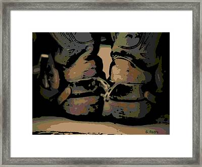 Spurs Framed Print by George Pedro