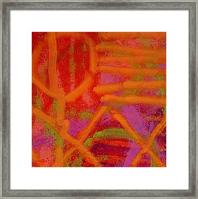Square Abstract Framed Print by John  Nolan