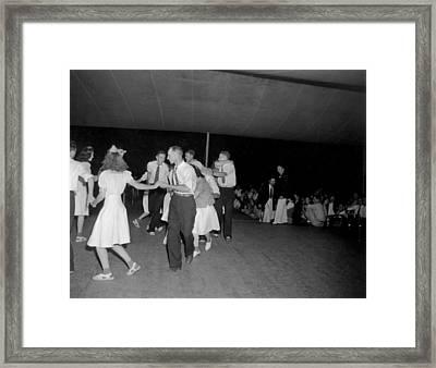 Square Dance Team Dancing Framed Print by Everett