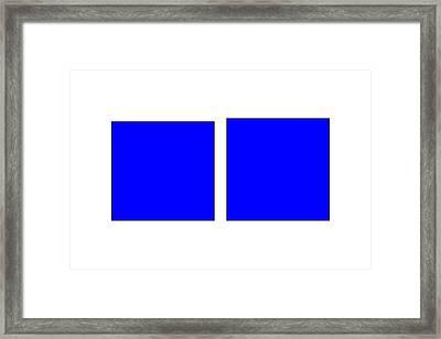 Square Illusion - Vertical Lines Appear Longer Framed Print