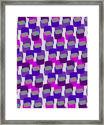 Squares Framed Print by Louisa Knight