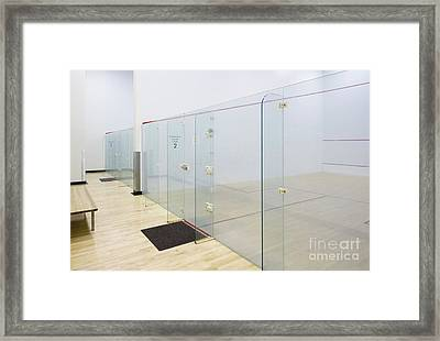 Squash Court Framed Print