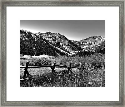 Squaw Valley At Lake Tahoe Framed Print
