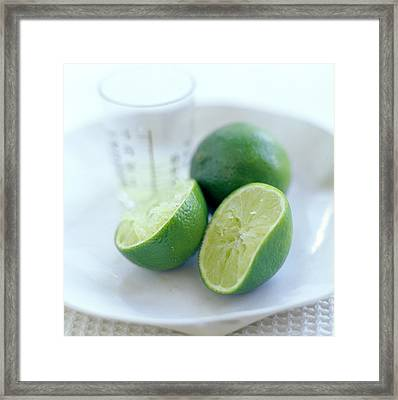 Squeezed Lime Framed Print by David Munns