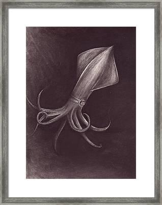 Squid 2 Framed Print by Arika Gloud