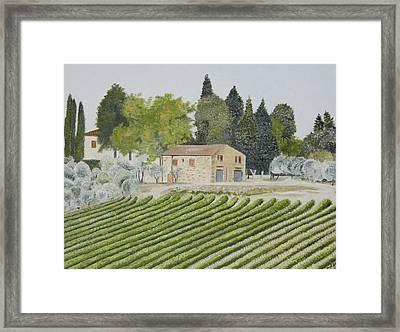 Sr 222 Farmhouse Framed Print by John Schuller