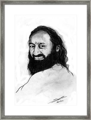 Sri Sri Ravishankar Guruji Framed Print by Shashi Kumar