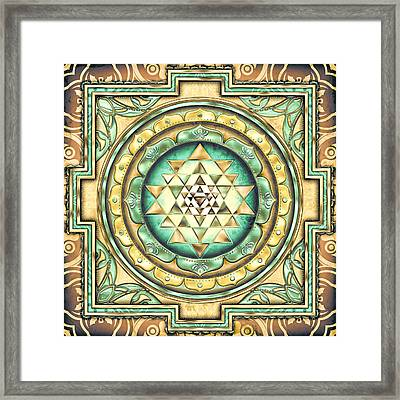 Sri Yantra 3 Framed Print by Sampad Art
