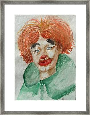 Ssend In The Clown Framed Print by Betty Pimm