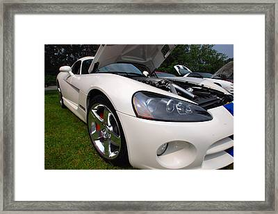 Framed Print featuring the pyrography Ssss 2009 Dodge Viper by John Schneider