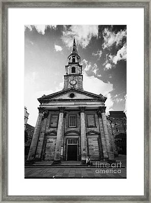 St Andrew And Saint George Church George Street Edinburgh Scotland Uk United Kingdom Framed Print by Joe Fox
