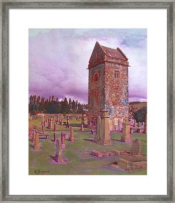 St Andrews Tower  Peebles Framed Print by Richard James Digance