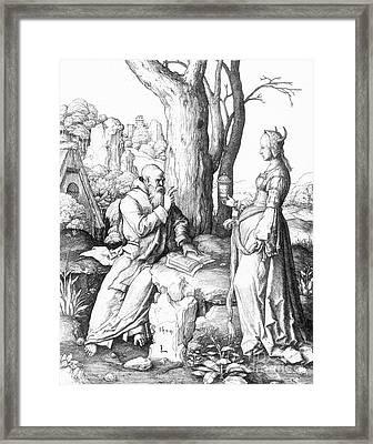 St. Anthony (c250-355) Framed Print by Granger