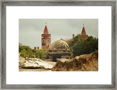 St. Augustine Castillo De San Marcos  Framed Print by Toni Hopper