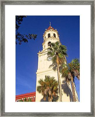 St. Augustine Church Clock Tower Framed Print by Patricia Taylor