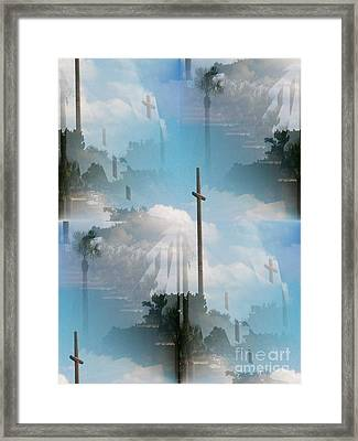 St Augustine The Great Cross Framed Print