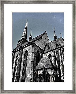 St. Bartholomew Cathedral - Pilsen Framed Print by Juergen Weiss