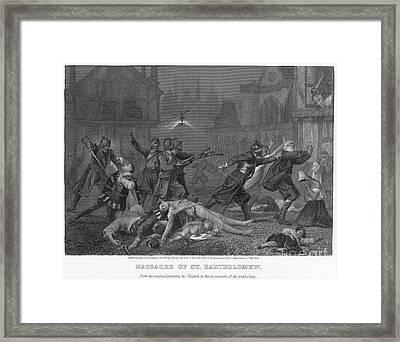 St Bartholomews Massacre Framed Print
